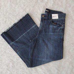 Express Jeans Cropped Culottes High Rise Denim 8 N